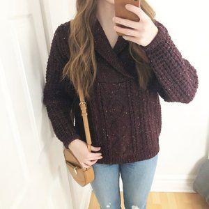 Vintage 100% Pure Wool Maroon Knit Ireland Sweater